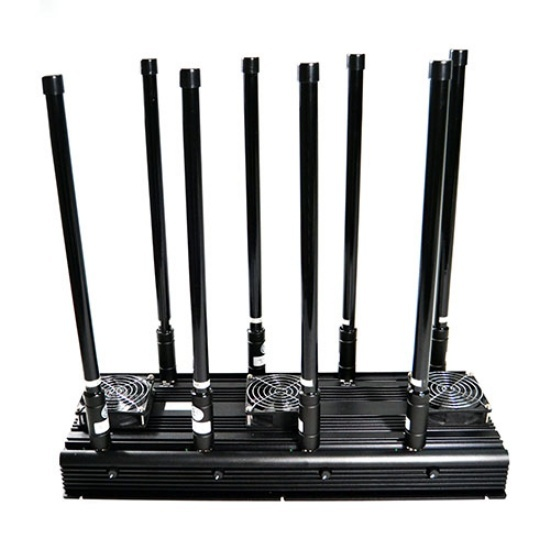 High Power 4G Jammer with 8 Bands,Cellphone WiFi UHF/VHF Jammer, Output Power 150Watt Jam up to 150m