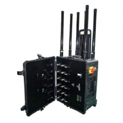 High Power Cell Phone Signal Jammer for VIP Convoy, 2/3G/4G with Pelican Case Portable Signal Jammer